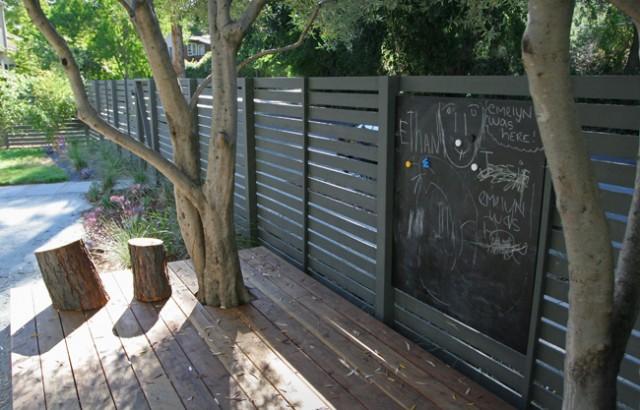 Fence chalkboard wall